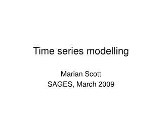 Time series modelling