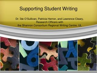 Supporting Student Writing
