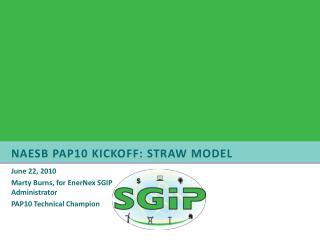 NAESB PAP10 Kickoff: Straw Model