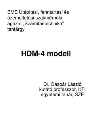 HDM-4 modell