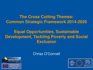 The Cross Cutting Themes: Common Strategic Framework 2014-2020