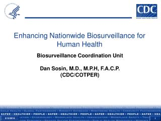 Enhancing Nationwide Biosurveillance for Human Health