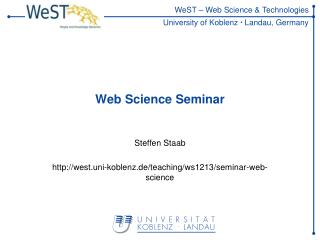Web Science Seminar