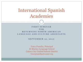 International Spanish Academies