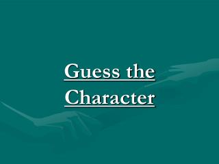 Guess the Character