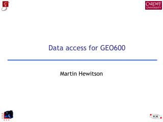 Data access for GEO600