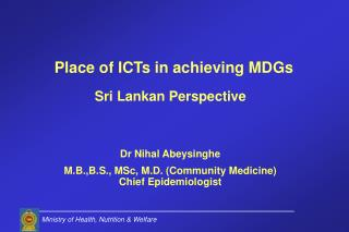 Sri Lankan Perspective Dr Nihal Abeysinghe