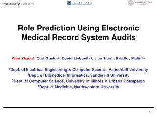 Role Prediction Using Electronic Medical Record System Audits