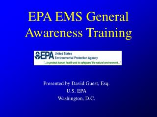 EPA EMS General Awareness Training