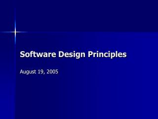 Software Design Principles