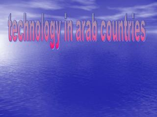 technology in arab countries