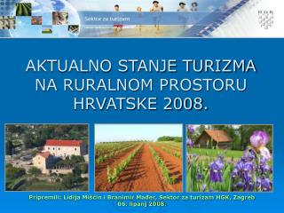 CROATIAN CHAMBER OF ECONOMY Tourist department