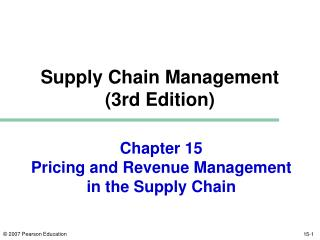 Chapter 15 Pricing and Revenue Management in the Supply Chain