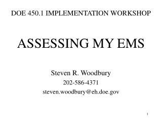 DOE 450.1 IMPLEMENTATION WORKSHOP