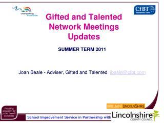 Gifted and Talented Network Meetings Updates