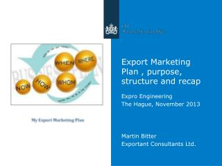 Export Marketing Plan , purpose, structure and recap