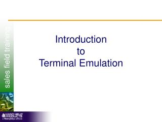 Introduction to Terminal Emulation