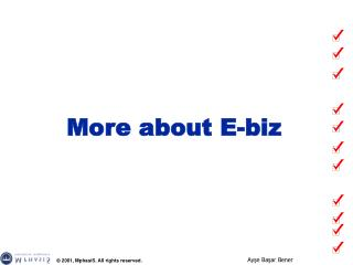 More about E-biz