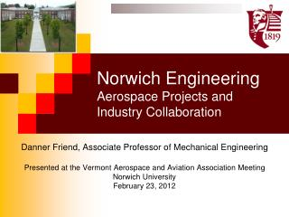 Norwich Engineering  Aerospace Projects and Industry Collaboration