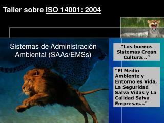 Taller sobre  ISO 14001: 2004