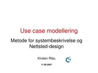 Use case modellering