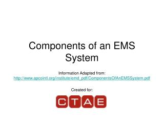 Components of an EMS System