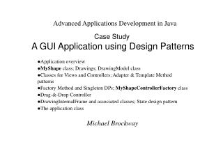 Case Study A GUI Application using Design Patterns