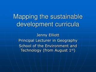 Mapping the sustainable development curricula