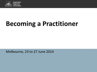 Becoming a Practitioner