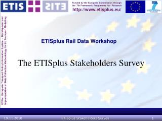 ETISplus Rail Data Workshop