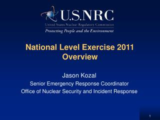National Level Exercise 2011 Overview