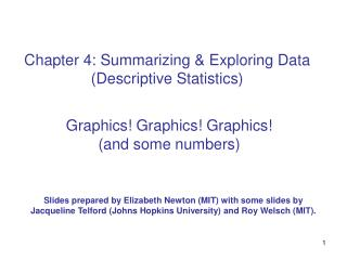 Chapter 4: Summarizing & Exploring Data (Descriptive Statistics)