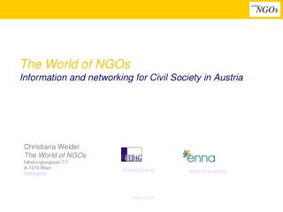 The World of NGOs Information and networking for Civil Society in Austria