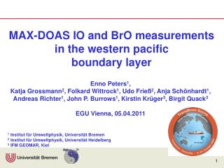 MAX-DOAS IO and BrO measurements in the western pacific  boundary layer