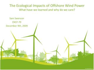 The Ecological Impacts of Offshore Wind Power What have we learned and why do we care?