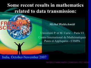 Some recent results in mathematics  related to data transmission: