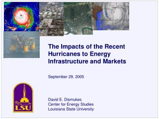 David E. Dismukes Center for Energy Studies Louisiana State University