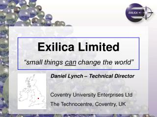 "Exilica Limited ""small things  can  change the world"""