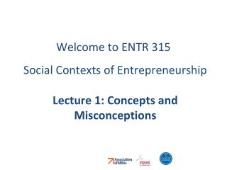 Welcome to ENTR 315