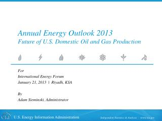 Annual Energy Outlook 2013 Future of U.S. Domestic Oil and Gas Production