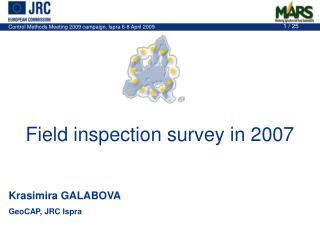 Field inspection survey in 2007