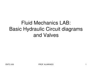 Fluid Mechanics LAB: Basic Hydraulic Circuit diagrams and Valves
