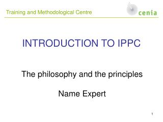 INTRODUCTION TO IPPC