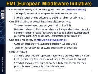 EMI (European Middleware Initiative)