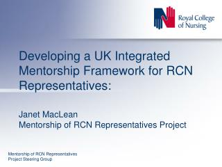 Mentorship of RCN Representatives Project Steering Group