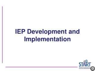 IEP Development and Implementation