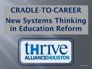 CRADLE-TO-CAREER New Systems Thinking  in Education Reform