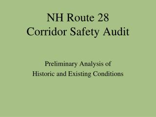 NH Route 28 Corridor Safety Audit