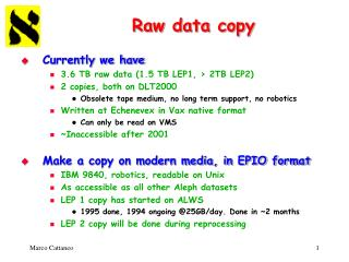 Raw data copy