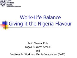 Work-Life Balance Giving it the Nigeria Flavour